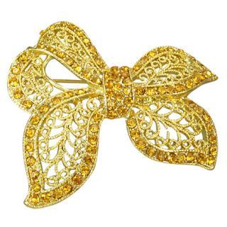Brošňa Mašľa Gold jew402 bižutéria