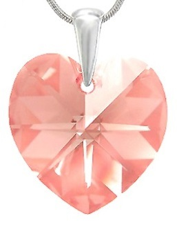 Prívesok Heart Light Rose Swarovski Elements sw094 striebro 925 0,25g